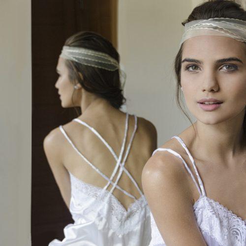 Camisa de dormir blanca novia