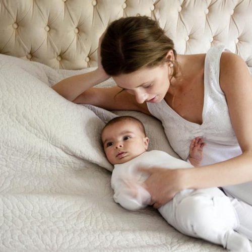 Comoda camisa de dormir maternal de algodón especial para la lactancia