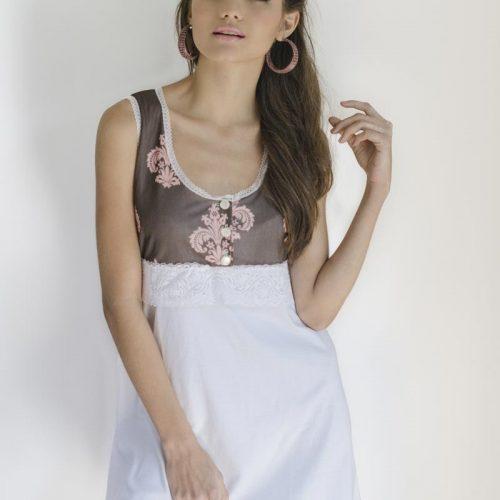 c02821105 Comoda camisa de dormir maternal de algodón especial para la lactancia