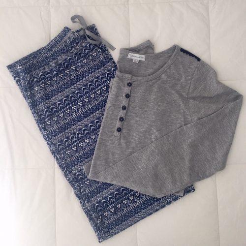 44b820c62 VICTORIA (azul y gris).   33.000. Pijama ...